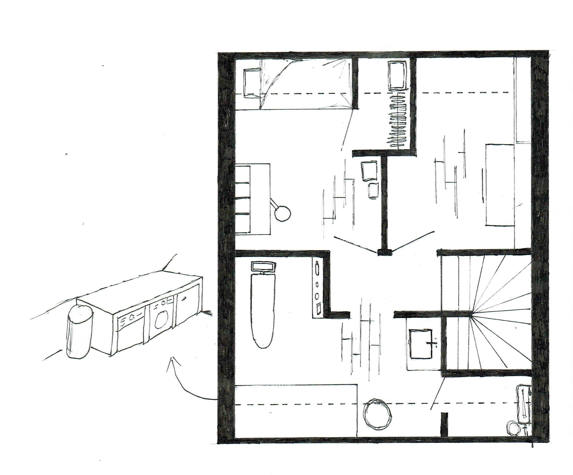 Ontwerp zolder van welie interieur for Ontwerp plattegrond
